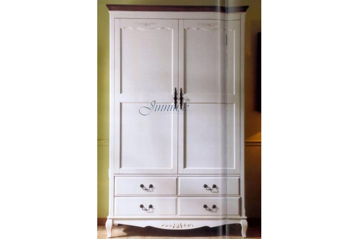 Шкаф 2-х дверный Молочный/Итальянский орех SH 337