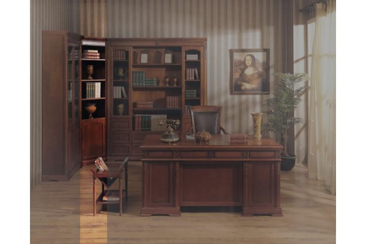 Шкаф книжный угловой Темный орех SH 353